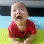 Jian on his tummy