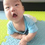 Kang on his tummy