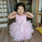 Chen wearing a beautiful dress