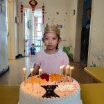 Yu with her birthday cake